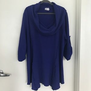 Soft Surroundings Cowl Neck Textured Tunic